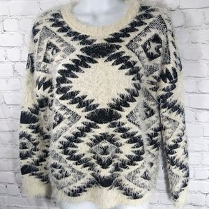 Staring At Stars Ivory Fuzzy Sweater